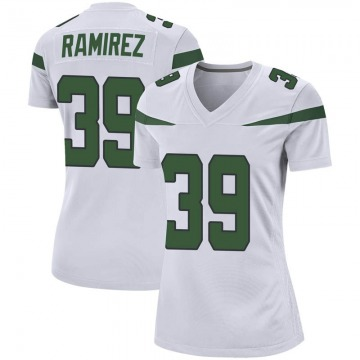 Women's Nike New York Jets Santos Ramirez Spotlight White Jersey - Game