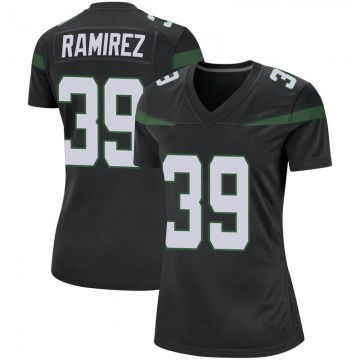 Women's Nike New York Jets Santos Ramirez Stealth Black Jersey - Game