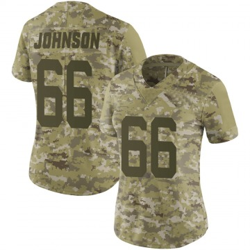 Women's Nike New York Jets Sterling Johnson Camo 2018 Salute to Service Jersey - Limited