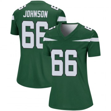 Women's Nike New York Jets Sterling Johnson Gotham Green Player Jersey - Legend