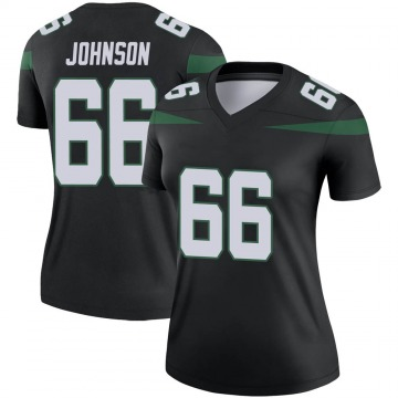 Women's Nike New York Jets Sterling Johnson Stealth Black Color Rush Jersey - Legend