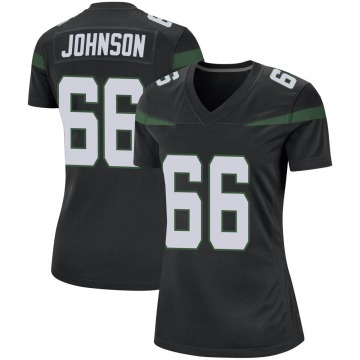 Women's Nike New York Jets Sterling Johnson Stealth Black Jersey - Game