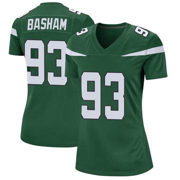 Women's Nike New York Jets Tarell Basham Gotham Green Jersey - Game