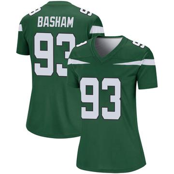 Women's Nike New York Jets Tarell Basham Gotham Green Player Jersey - Legend