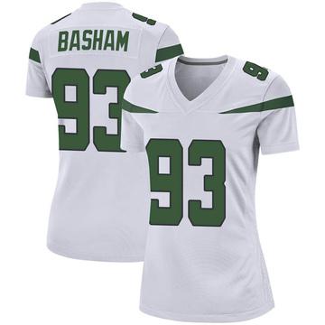 Women's Nike New York Jets Tarell Basham Spotlight White Jersey - Game