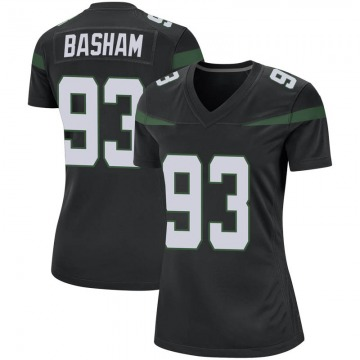 Women's Nike New York Jets Tarell Basham Stealth Black Jersey - Game