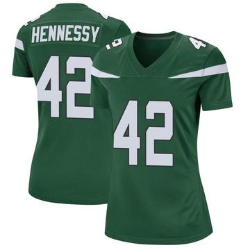 Women's Nike New York Jets Thomas Hennessy Gotham Green Jersey - Game