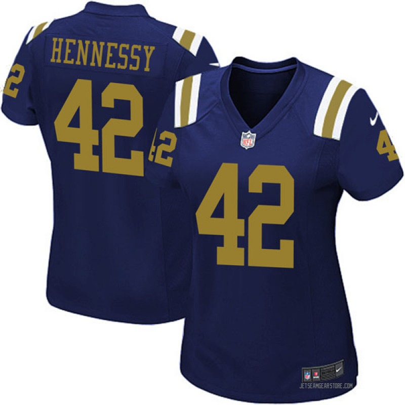more photos 2c992 4ea1f Women's Nike New York Jets Thomas Hennessy Navy Blue Alternate Jersey - Game