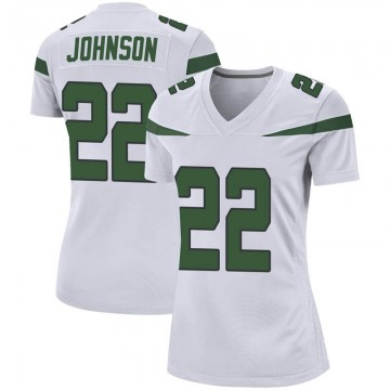 Women's Nike New York Jets Trumaine Johnson Spotlight White Jersey - Game