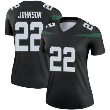 Women's Nike New York Jets Trumaine Johnson Stealth Black Color Rush Jersey - Legend