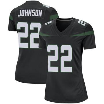 Women's Nike New York Jets Trumaine Johnson Stealth Black Jersey - Game