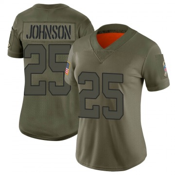 Women's Nike New York Jets Ty Johnson Camo 2019 Salute to Service Jersey - Limited