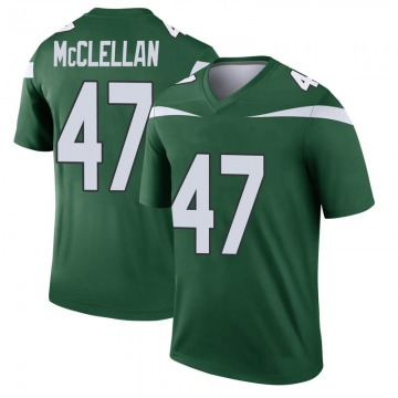 Youth Nike New York Jets Albert McClellan Gotham Green Player Jersey - Legend