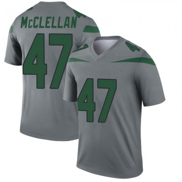 Youth Nike New York Jets Albert McClellan Gray Inverted Jersey - Legend