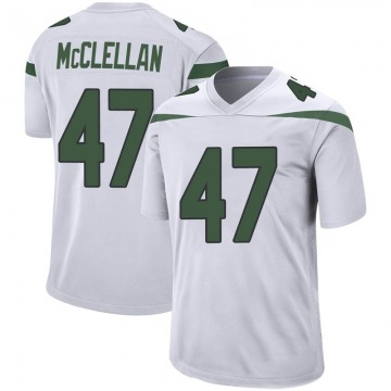 Youth Nike New York Jets Albert McClellan Spotlight White Jersey - Game