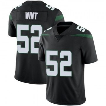Youth Nike New York Jets Anthony Wint Stealth Black Vapor Jersey - Limited