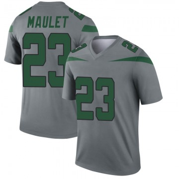 Youth Nike New York Jets Arthur Maulet Gray Inverted Jersey - Legend