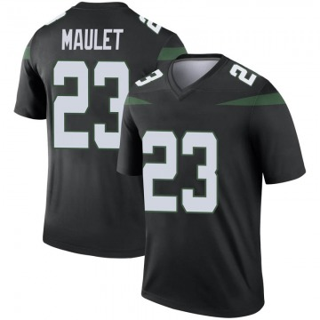 Youth Nike New York Jets Arthur Maulet Stealth Black Color Rush Jersey - Legend