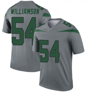 Youth Nike New York Jets Avery Williamson Gray Inverted Jersey - Legend