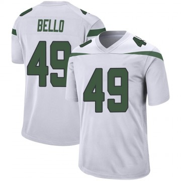 Youth Nike New York Jets B.J. Bello Spotlight White Jersey - Game