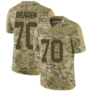 Youth Nike New York Jets Ben Braden Camo 2018 Salute to Service Jersey - Limited