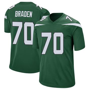 Youth Nike New York Jets Ben Braden Gotham Green Jersey - Game