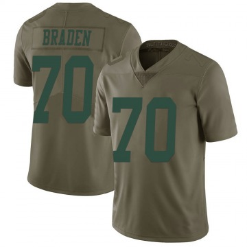 Youth Nike New York Jets Ben Braden Green 2017 Salute to Service Jersey - Limited