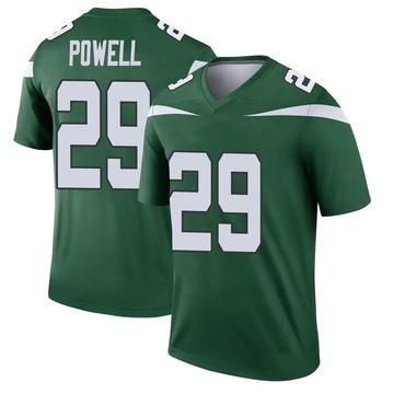 Youth Nike New York Jets Bilal Powell Gotham Green Player Jersey - Legend