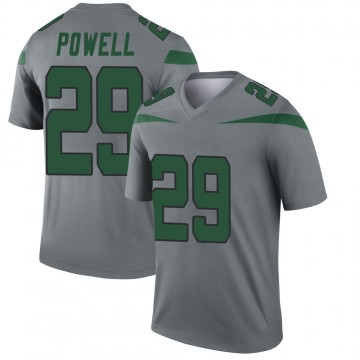 Youth Nike New York Jets Bilal Powell Gray Inverted Jersey - Legend