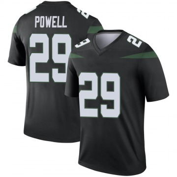 Youth Nike New York Jets Bilal Powell Stealth Black Color Rush Jersey - Legend