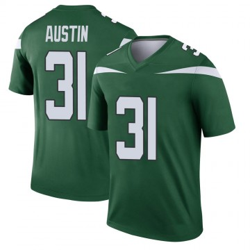 Youth Nike New York Jets Blessuan Austin Gotham Green Player Jersey - Legend
