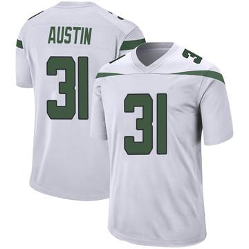 Youth Nike New York Jets Blessuan Austin Spotlight White Jersey - Game