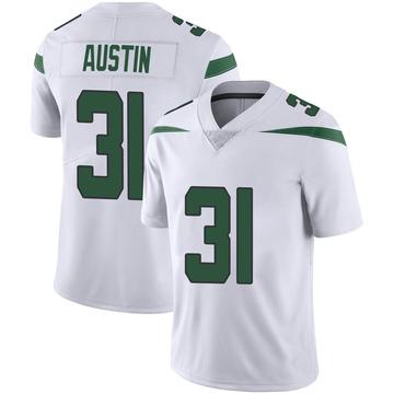 Youth Nike New York Jets Blessuan Austin Spotlight White Vapor Jersey - Limited