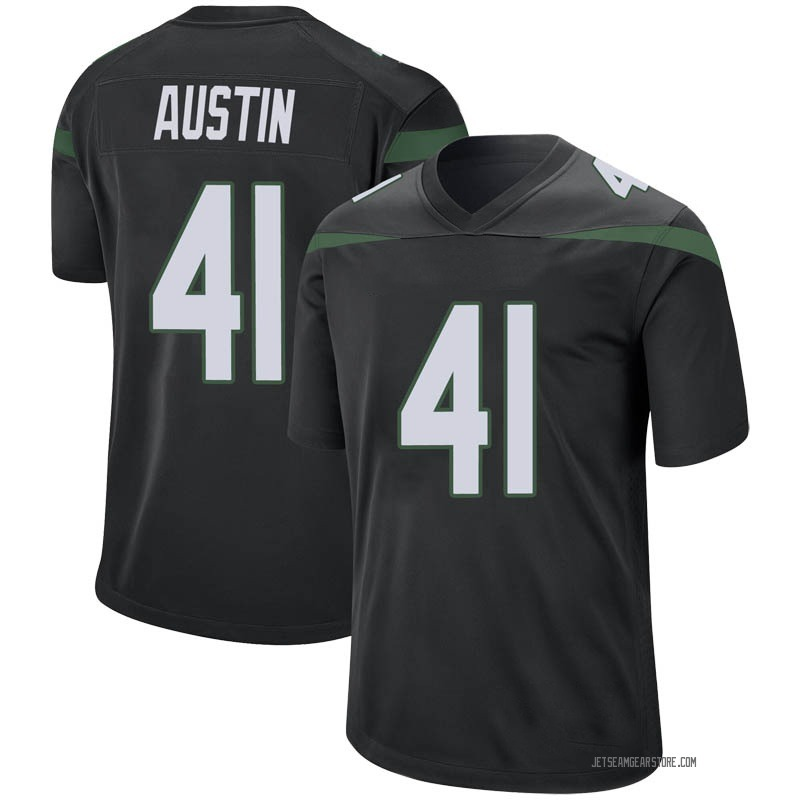 official photos 99929 6fdc0 Youth Nike New York Jets Blessuan Austin Stealth Black Jersey - Game