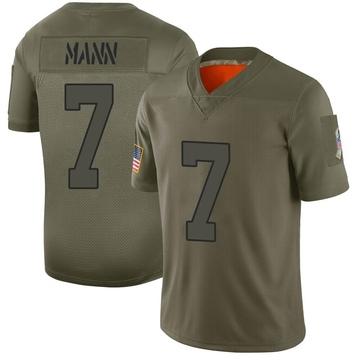 Youth Nike New York Jets Braden Mann Camo 2019 Salute to Service Jersey - Limited