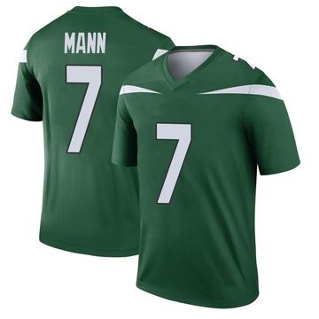 Youth Nike New York Jets Braden Mann Gotham Green Player Jersey - Legend