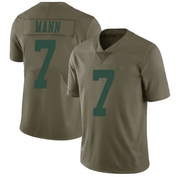 Youth Nike New York Jets Braden Mann Green 2017 Salute to Service Jersey - Limited
