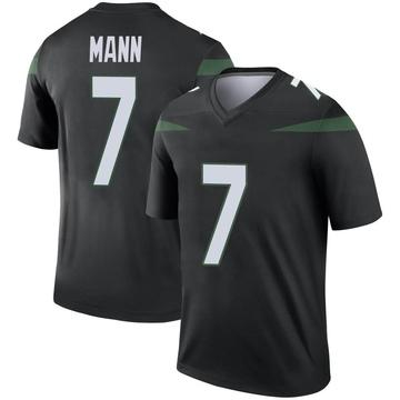 Youth Nike New York Jets Braden Mann Stealth Black Color Rush Jersey - Legend