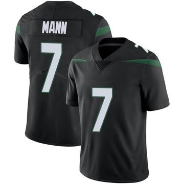 Youth Nike New York Jets Braden Mann Stealth Black Vapor Jersey - Limited