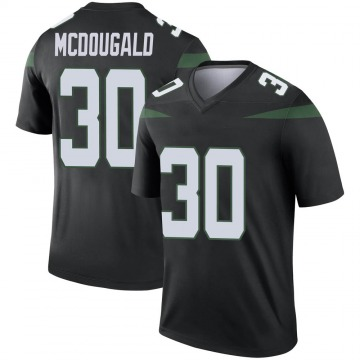 Youth Nike New York Jets Bradley McDougald Stealth Black Color Rush Jersey - Legend