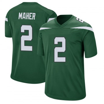 Youth Nike New York Jets Brett Maher Gotham Green Jersey - Game