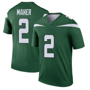Youth Nike New York Jets Brett Maher Gotham Green Player Jersey - Legend