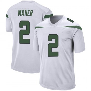 Youth Nike New York Jets Brett Maher Spotlight White Jersey - Game