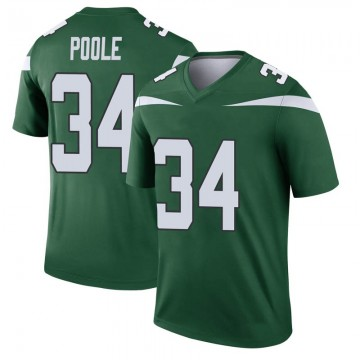 Youth Nike New York Jets Brian Poole Gotham Green Player Jersey - Legend