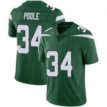 Youth Nike New York Jets Brian Poole Green 100th Vapor Jersey - Limited
