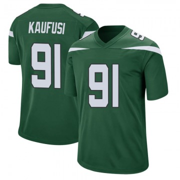 Youth Nike New York Jets Bronson Kaufusi Gotham Green Jersey - Game