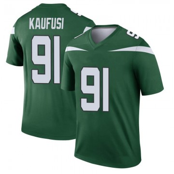 Youth Nike New York Jets Bronson Kaufusi Gotham Green Player Jersey - Legend