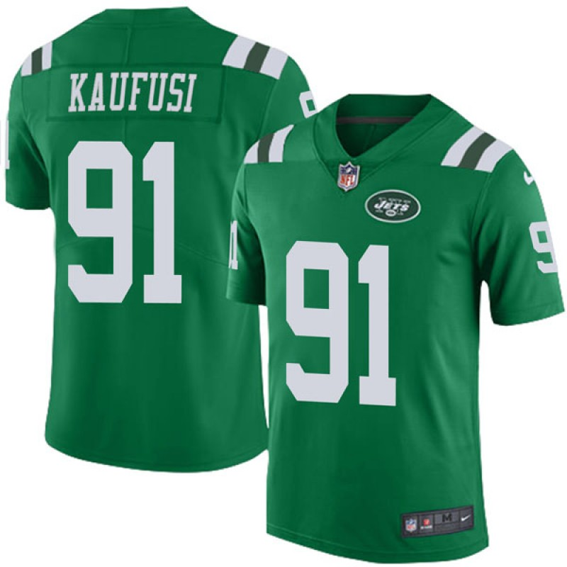 reputable site 0cc66 6ac50 Youth Nike New York Jets Bronson Kaufusi Green Color Rush Jersey - Limited