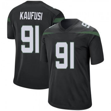 Youth Nike New York Jets Bronson Kaufusi Stealth Black Jersey - Game