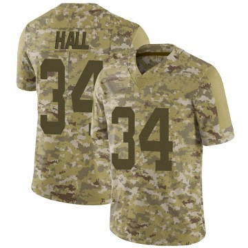 Youth Nike New York Jets Bryce Hall Camo 2018 Salute to Service Jersey - Limited